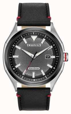 Citizen Eco-drive |  Men's Sport | Black dial | Leather | Watch AW1148-09E