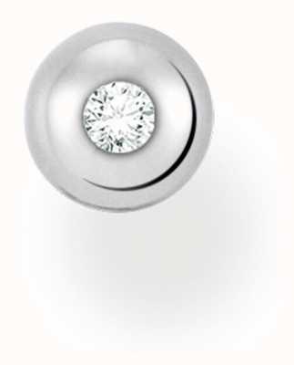 Thomas Sabo Sterling Silver Single Stud Earring | White Stone H2130-051-14