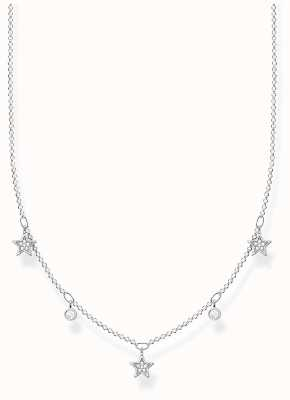Thomas Sabo Sterling Silver Star Necklace | White Stones KE2075-051-14-L45