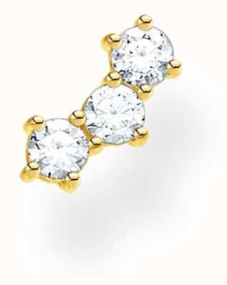 Thomas Sabo 18k Yellow Gold Single Stud Earring | Zirconia Stones H2132-414-14