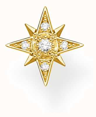 Thomas Sabo 18k Yellow Gold Single Star Stud Earring H2144-414-14