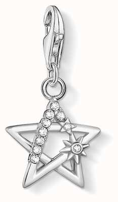 Thomas Sabo Charming | Sterling Silver Star Charm Pendant | Silver Stones 1850-051-14