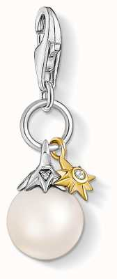 Thomas Sabo Charming | Sterling Silver Freshwater Pearl&Star Charm Pendant 1856-849-14