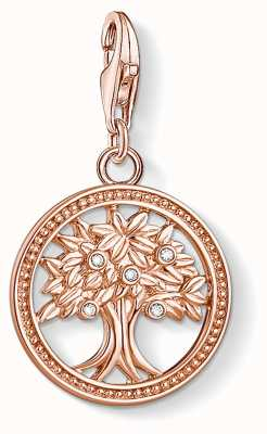 Thomas Sabo Charming | 18k Rose Gold Plated Tree Of Life Charm Pendant 1861-416-14