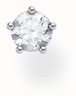 Thomas Sabo Sterling Silver White Stone Single Stud Earring H2135-051-14