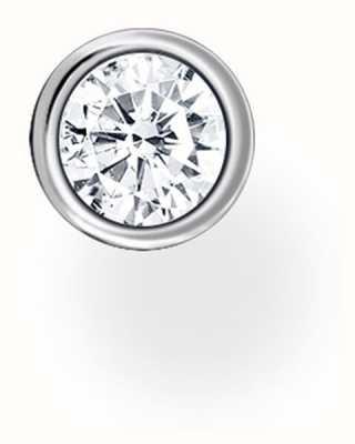 Thomas Sabo Sterling Silver Single Stud Earring   White Single Stone H2136-051-14