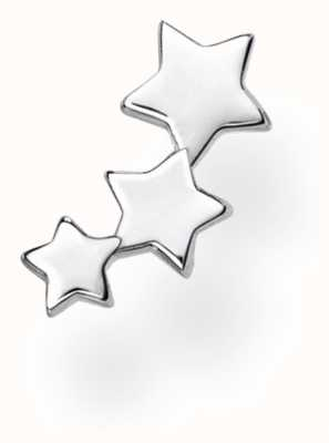 Thomas Sabo Sterling Silver Triple Stars Single Stud Earring H2142-001-21