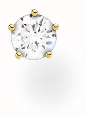 Thomas Sabo 18k Yellow Gold Single Stud Earring | Single Stone H2147-414-14