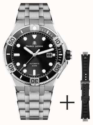 Maurice Lacroix Aikon Venturer 43mm Automatic Stainless Steel Bracelet Black Dial AI6058-SS002-330-2