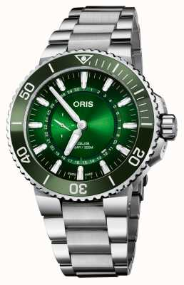 ORIS Limited Edition Aquis Diver Hangang Green Dial 01 743 7734 4187-SET
