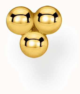 Thomas Sabo Charming   18k Yellow Gold Plated Single Stud Dots Earring H2140-413-39