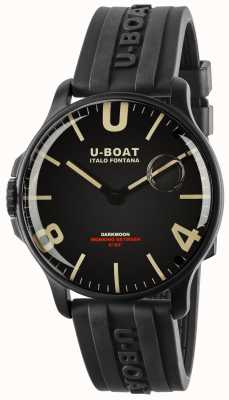 U-Boat Darkmoon 44mm Black IPB | Rubber Strap 8464-BLACK