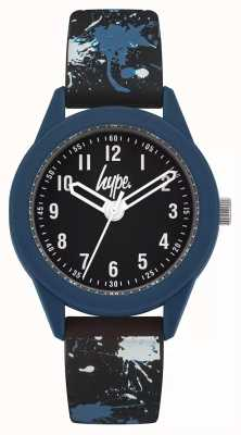 Hype Children's Paint Splat Silicone Strap | Black Dial HYK006UB