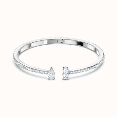 Swarovski Attract Cuff | Rhodium Plated | Bangle | White 5556912