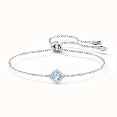 Swarovski Angelic | Rhodium Plated | Cushion Bracelet | Blue 5567933