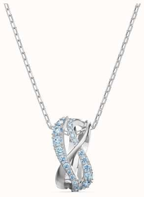 Swarovski Twist | Rhodium Plated | Pendant Necklace | Blue 5582806