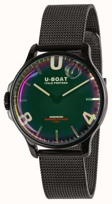 U-Boat Darkmoon 38mm | Black Mesh Bracelet | Rainbow Dial 8470/MT