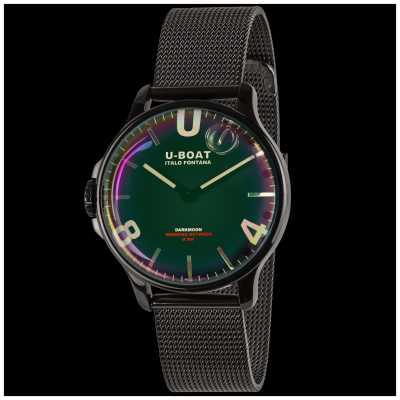 U-Boat Darkmoon 38mm | Black Mesh Bracelet | Rainbow Dial 8470/MT