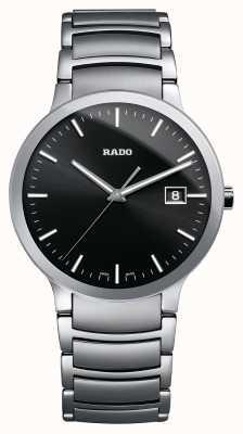 RADO Rado Centrix L Mens Quartz Steel Bracelet Black Dial R30927153