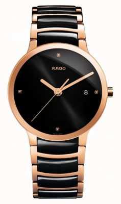 RADO Rado Centrix L Automatic Ceramic Black Dial Mens R30035712