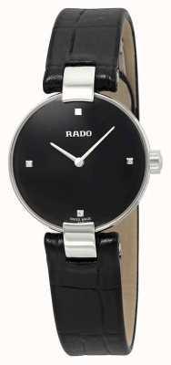 RADO Rado Coupole SM Ladies  Black Leather Black Dial R22854705