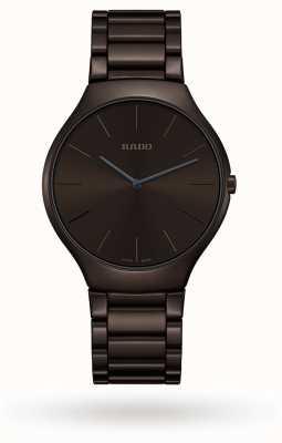 RADO Rado True Thinline Colour Mens Ceramic Brown Dial R27269302