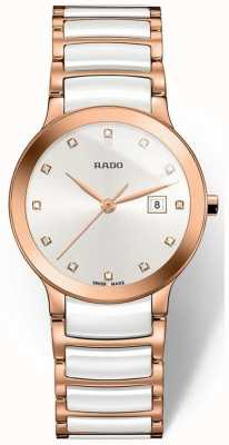 RADO Rado Centrix SM Ladies Quartz White  Rose Gold Ceramic R30512742
