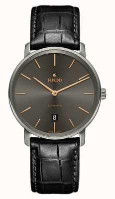 RADO Rado  Diamaster Ceramos XL Mens Automatic Grey Dial Black R14067156