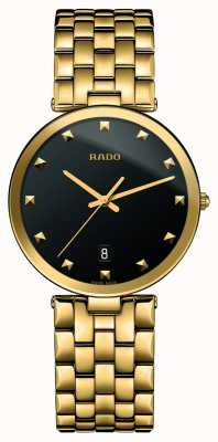 RADO Florence Ladies Quartz Gold PVD Plated Black Dial R48868163