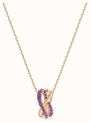 Swarovski Twist | Pendant Necklace | Rose Gold Plated | Purple 5563907