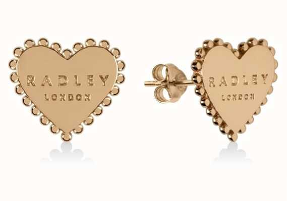 Radley Jewellery Sterling Silver 18ct Gold Plated Heart Stud Earrings RYJ1128