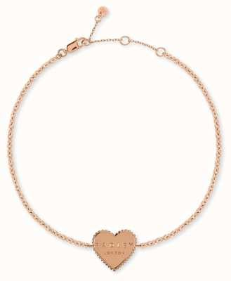 Radley Jewellery Sterling Silver Rose Gold Plated Heart Bracelet RYJ3076
