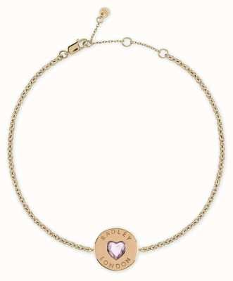 Radley Jewellery Sterling Silver 18ct Gold Plated Heart Disc Bracelet RYJ3082
