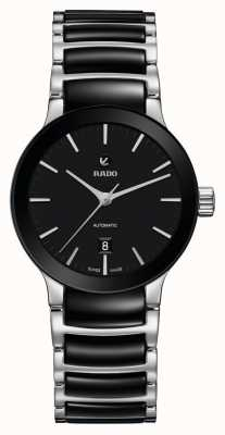 RADO Mens Centrix Automatic Black Dial stainless Steel and Ceramic R30009172