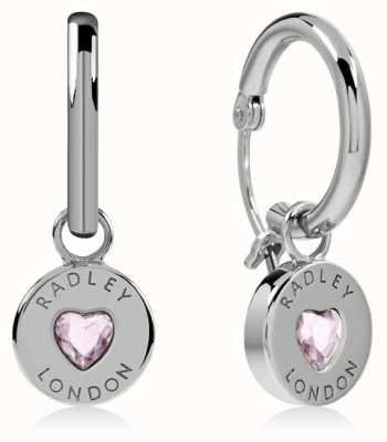 Radley Jewellery Sterling Silver Heart Disc Huggie Earrings RYJ1135