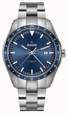 RADO Mens Hyperchrome Automatic UTC Limited Edition Stainless Steel Blue Dial R32050203