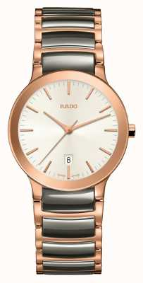 RADO Centrix S Ladies Black Ceramic Rose Gold PVD Plated Bracelet R30555022