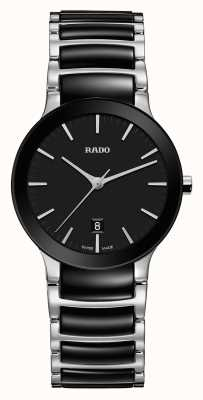 RADO Centrix S Ladies Quartz Black Dial  Black And Stainless steel Bracelet R30935172
