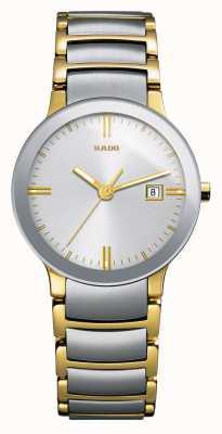 RADO Centrix SM Ladies Quartz Silver/Gold PVD Plated Strap Silver Dial R30932103