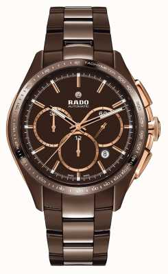 RADO Hyperchrome L Mens Brown Ceramic Bracelet Brown Dial R32172530
