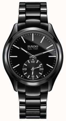 RADO Hyperchrome L Mens Quartz Black Ceramic Bracelet Black Dial R32114152