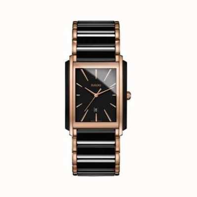 RADO Integral L Mens Quartz Black Ceramic Bracelet Black Dial R20962152
