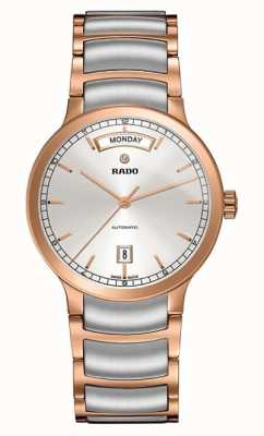 RADO Centrix L Ladies Automatic  Rose Gold PVD Plated Silver Dial R30158113
