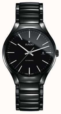 RADO True L Mens Black Ceramic Bracelet Black Dial Automatic R27056152
