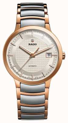 RADO Centrix L Mens Automatic Silver / Rose Gold PVD Plated Bracelet Silver Dial R30953123