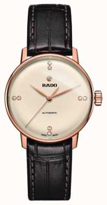 RADO Coupole Classic SM Ladies Automatic Leather Strap Gold Dial R22865765
