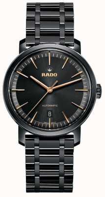 RADO DiaMaster M Mens Automatic Black Ceramic Bracelet Black Dial R14073162