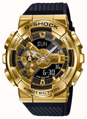 Casio G-Shock | Textured Resin Strap | Gold Metallic Case | GM-110G-1A9ER