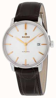 RADO Coupole L Mens Automatic Black Leather White Dial R22860025