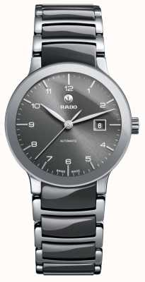 RADO Centrix SM Ladies Automatic Grey Ceramic Bracelet Grey Dial R30940112